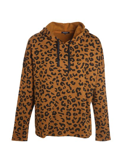 sweat leopard jaune moutarde