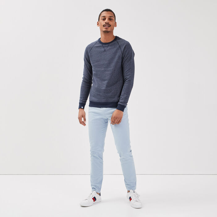 Sweat manches longues blanc homme