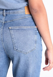 Jeans mom 5 poches denim used femme