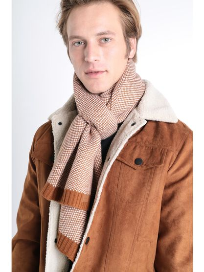 charpe bord cote camel homme