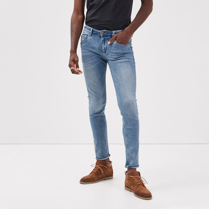 Jeans skinny 5 poches denim used homme