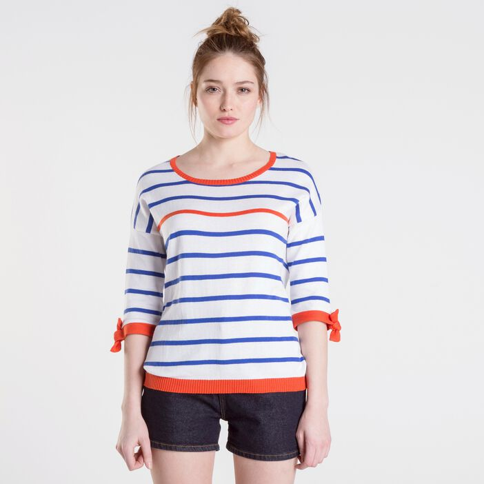 Pull femme manches longues BLANC