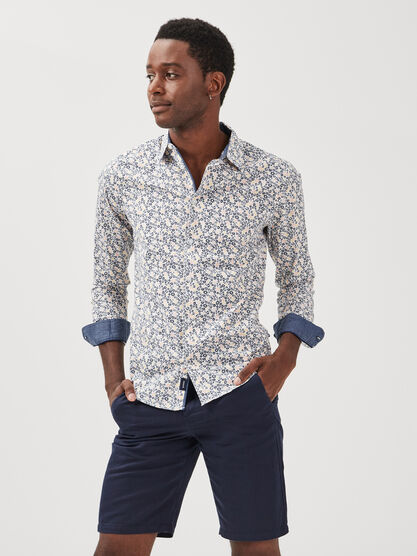 Chemise eco responsable multicolore homme