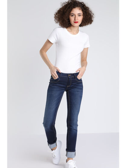Jeans regular Instinct denim brut femme