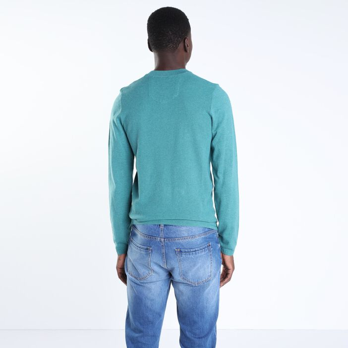 Pull manches longues Instinct vert canard homme