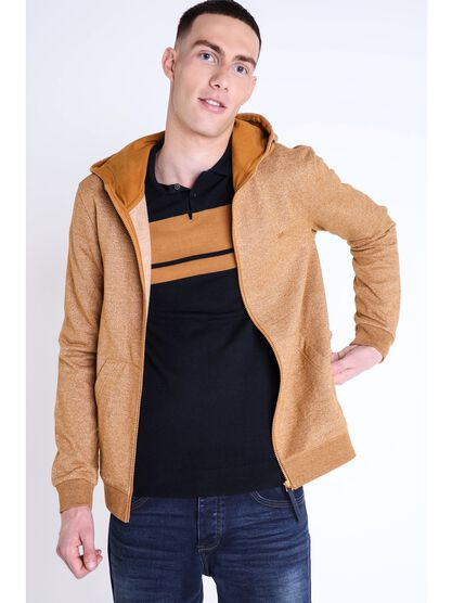 gilet col a capuche homme chine camel