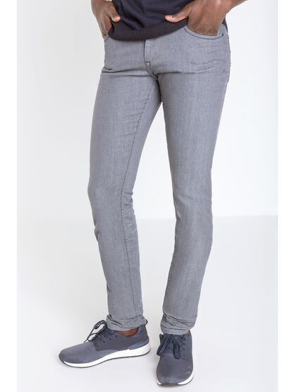 jeans straight homme instinct denim gris