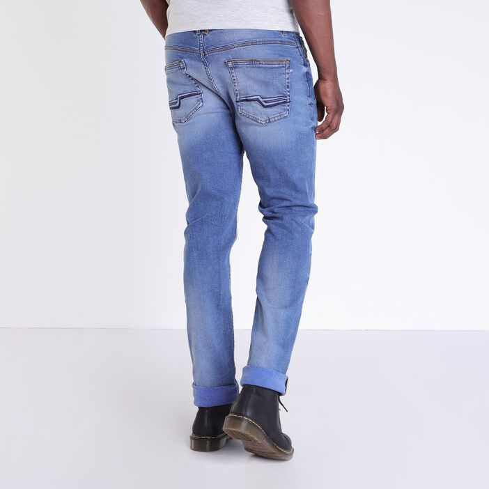 Jeans bootcut 5 poches used denim used homme