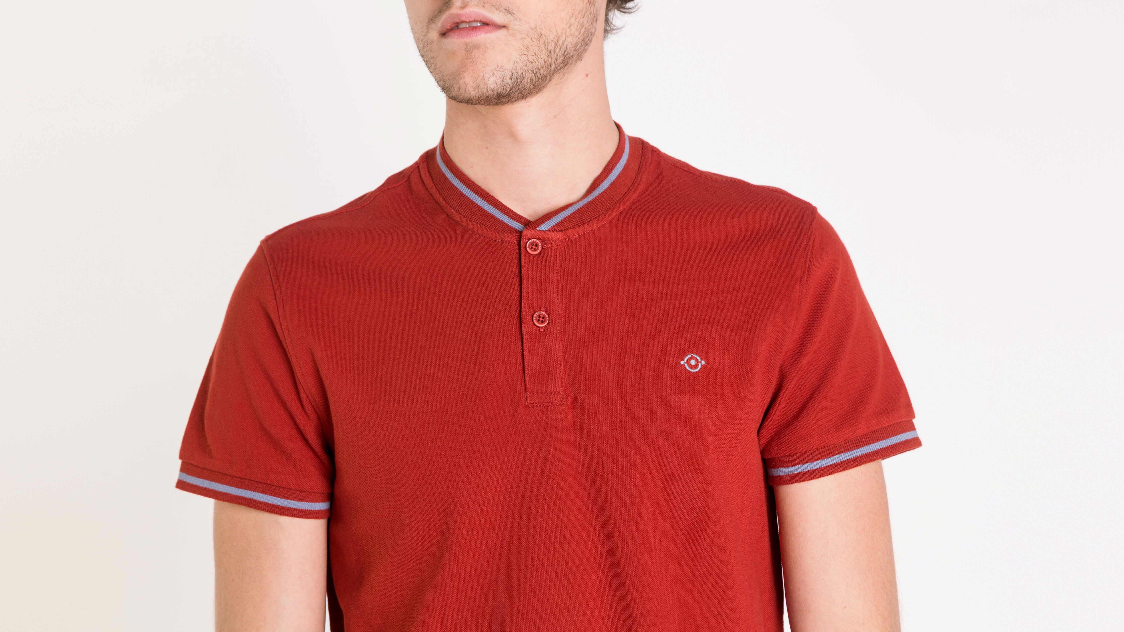 Homme Polo Col Uni Montant FoncéBonobo Rouge 7ymYbvIf6g