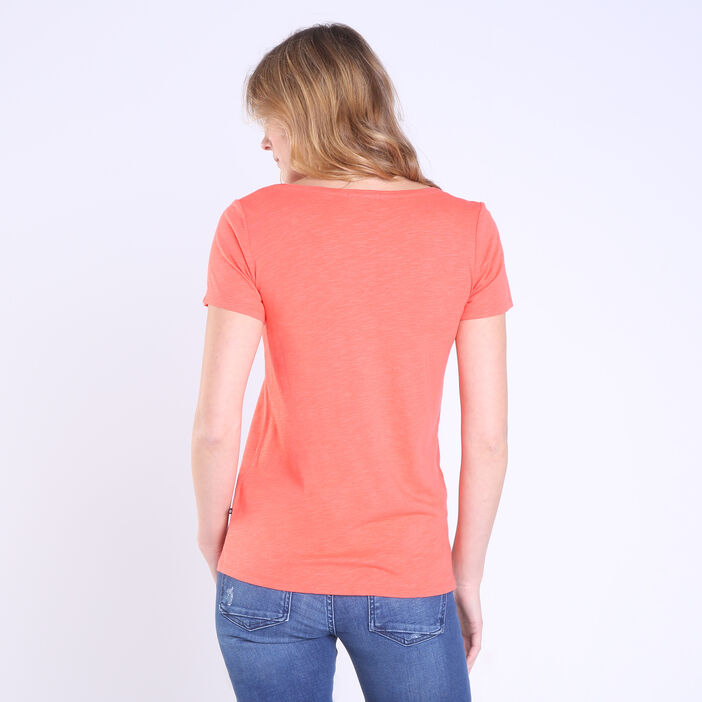 T-shirt manches courtes Instinct orange corail femme