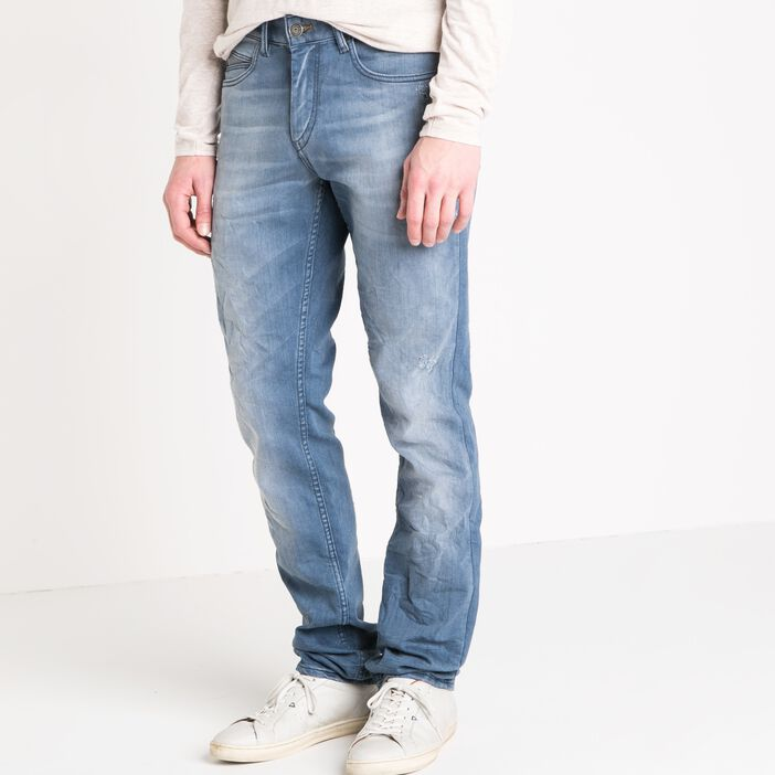 Jeans straight homme used embossage DENIM USED