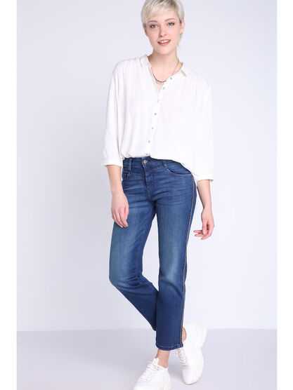 Jean regular denim dirty femme