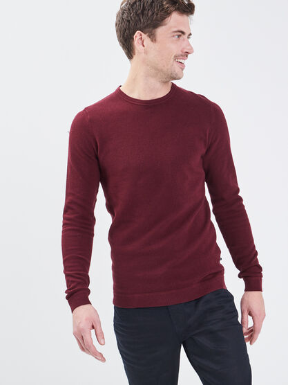 Pull eco responsable violet fonce homme