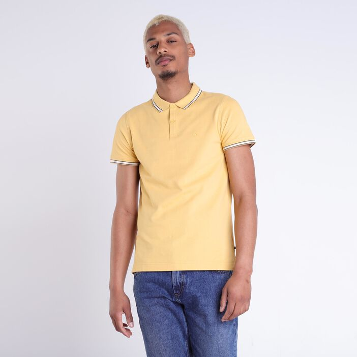 Polo Instinct manches courtes jaune moutarde homme