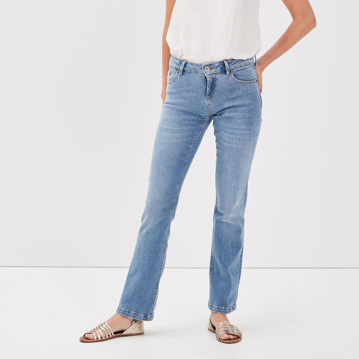 Jeans bootcut taille standard denim used femme