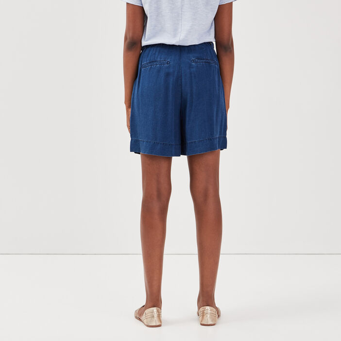 Short ample éco-responsable denim stone femme