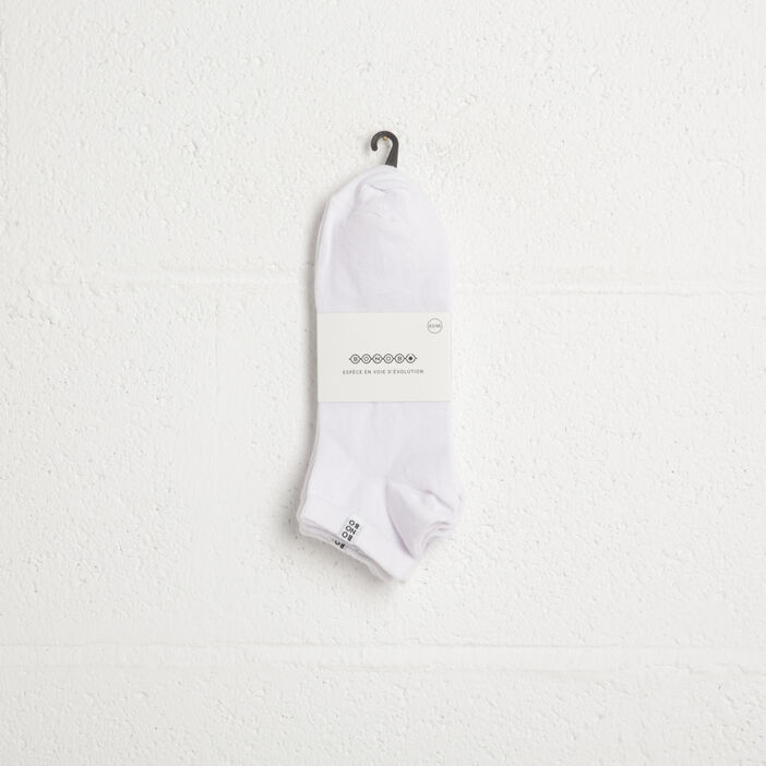 Pack 3 chaussettes blanc homme