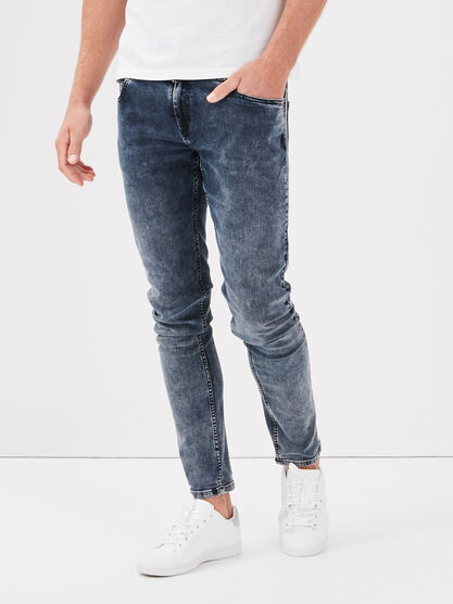 Jeans skinny eco responsable denim dirty homme