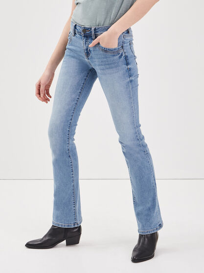 Jean recycle bootcut denim used femme