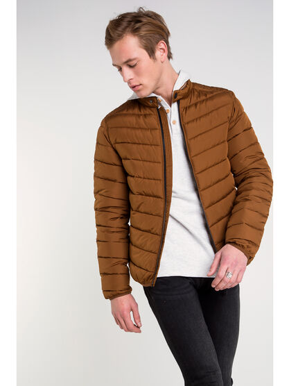 Doudoune cintree Instinct marron homme
