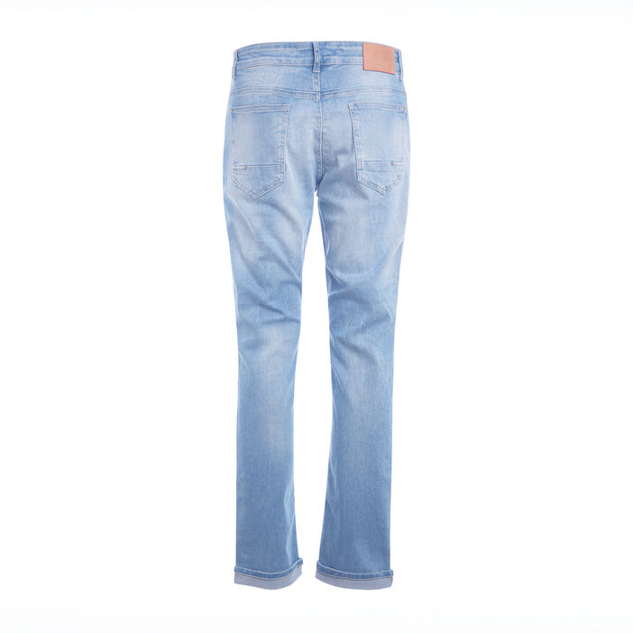 Jean straigth denim bleach homme
