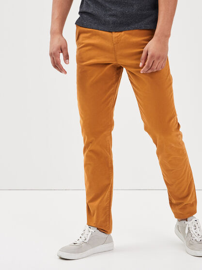 Pantalon Instinct chino jaune moutarde homme