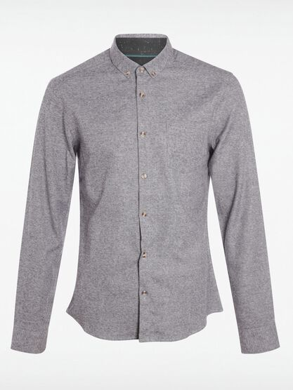 chemise col boutonne homme gris