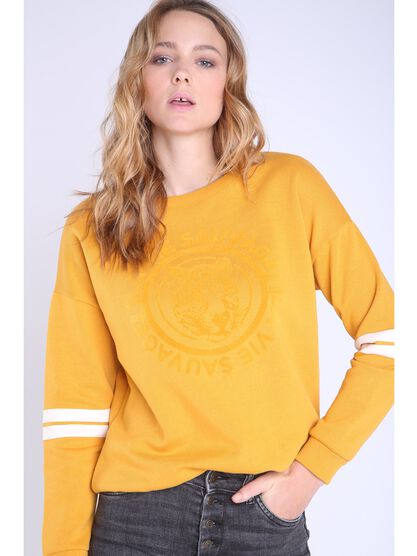 sweat jaune or