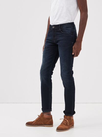 Jeans straight L32 Instinct denim brut homme