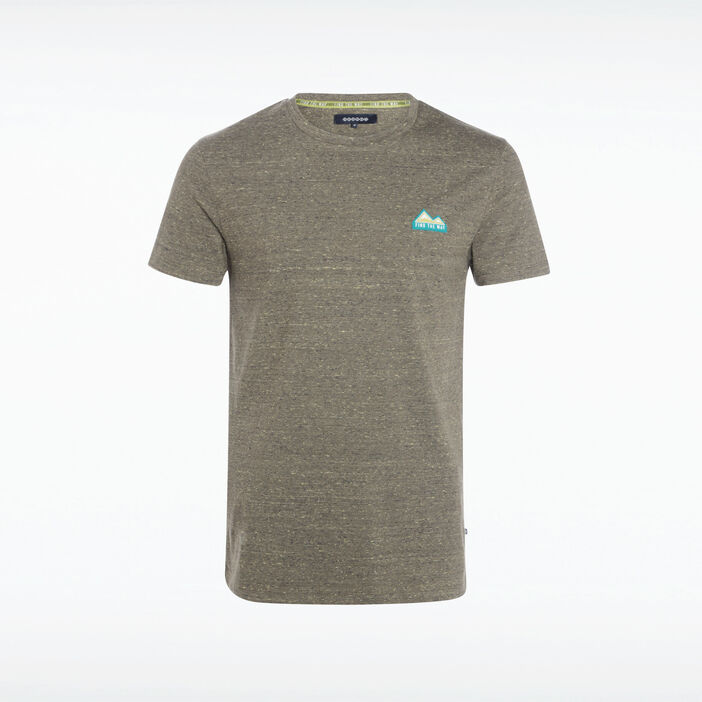 T-shirt manches courtes vert olive homme