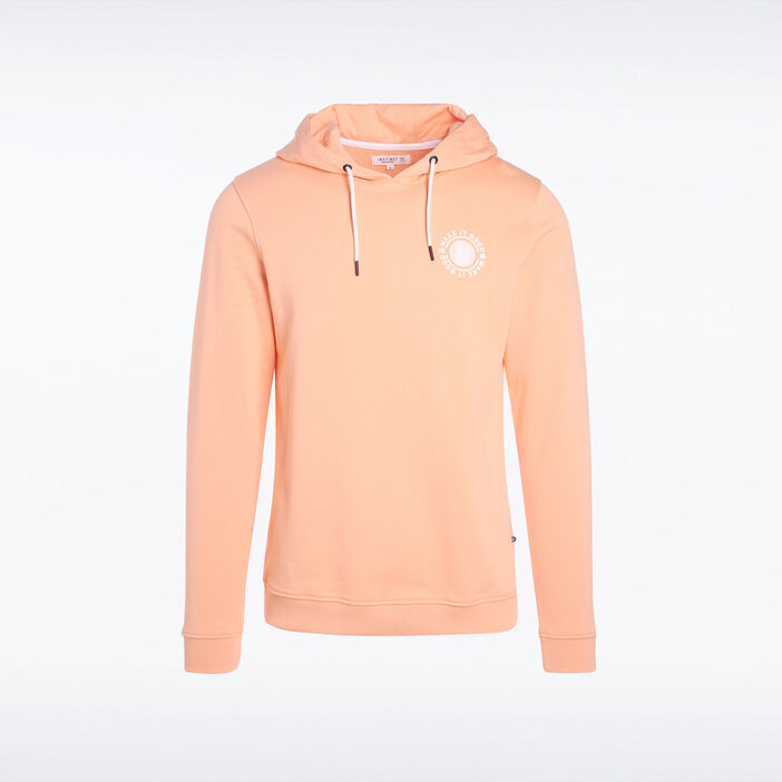 Sweat rose saumon homme