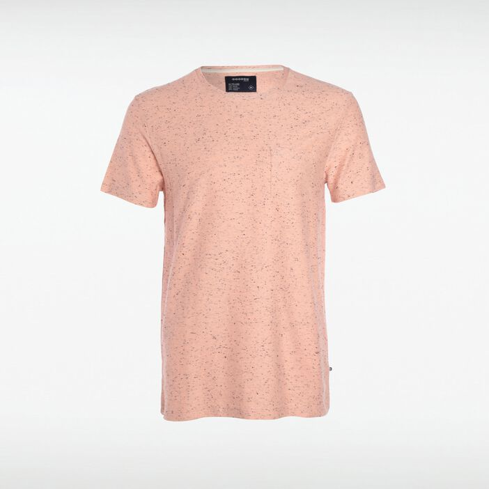 T-shirt col rond maille ROSE CLAIR