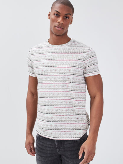 T shirt eco responsable ecru homme