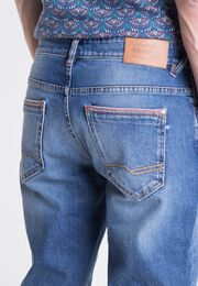jeans straight homme revers colores denim stone