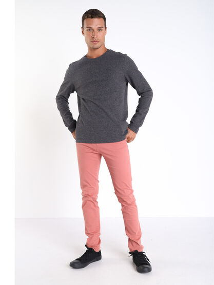 Pantalon Instinct chino slim rose homme