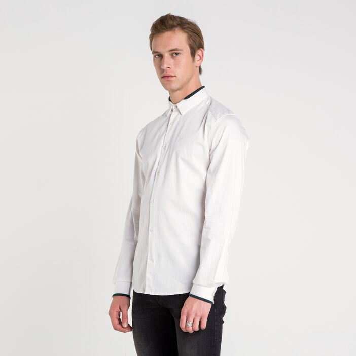 Chemise col milan homme unie WHITE