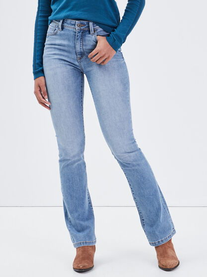 Jeans bootcut eco responsable denim used femme