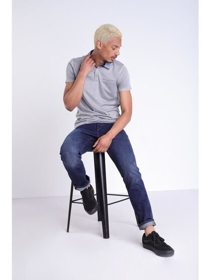 Jeans Instinct straight denim brut homme