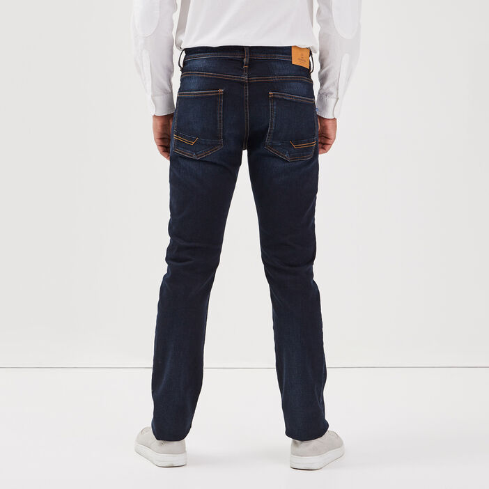 Jeans éco-responsable straight denim brut homme