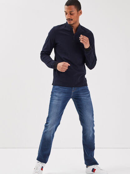 Jeans eco responsable regular denim stone homme