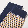 Lot 2 paires chaussettes jaune or homme