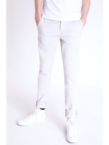 Pantalon chino slim Instinct gris clair homme