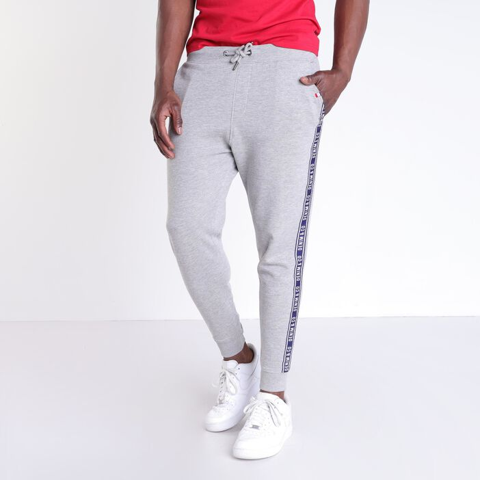 Jogging slim taille standard gris clair homme