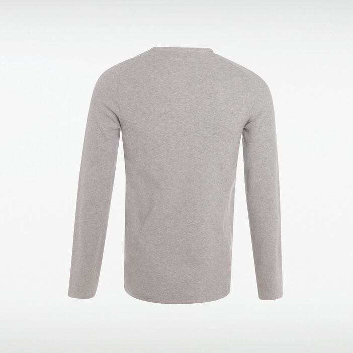 Pull col rond homme maille fine Instinct GRIS CLAIR