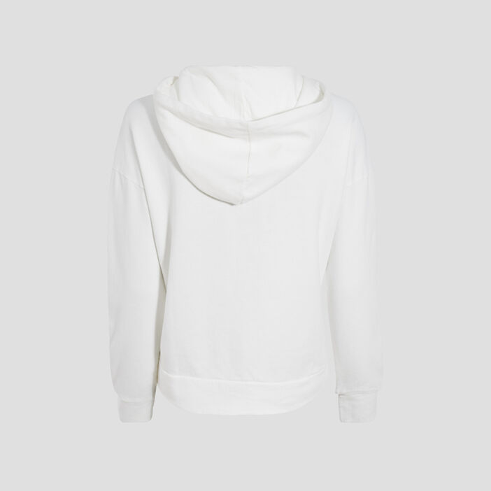 Sweat manches longues blanc femme