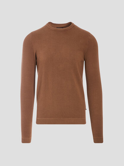 Pull eco responsable beige homme
