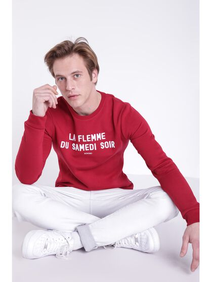 sweat message rouge