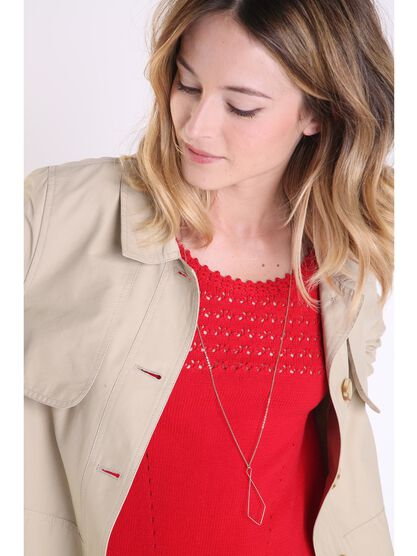 collier femme couleur or