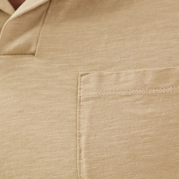 Polo manches courtes beige homme