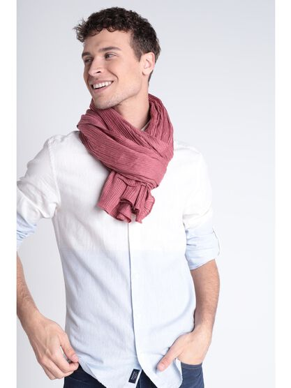 Foulard effet froisse rouge fonce homme